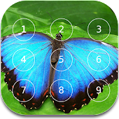 Butterfly password Lock Screen