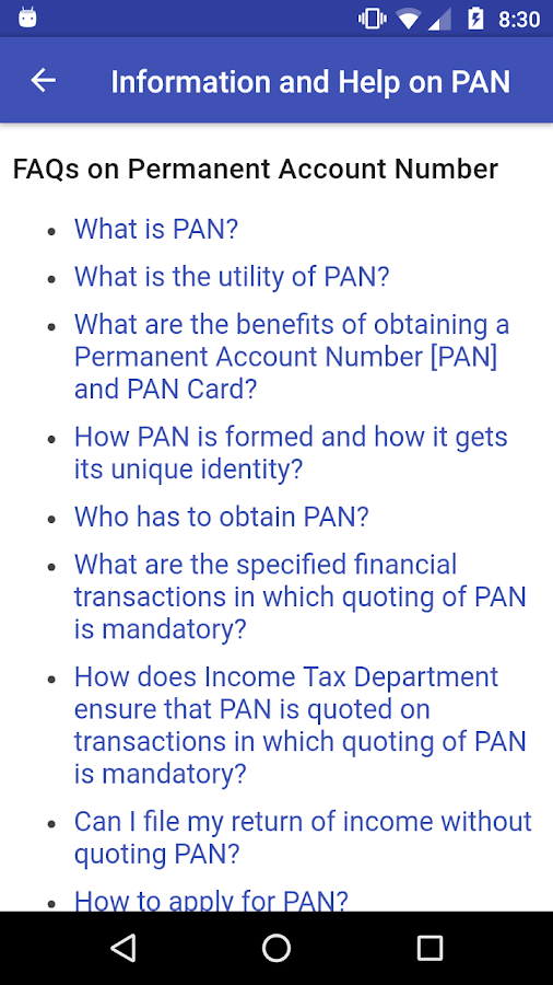PAN Card Search, Scan, Verify & Application Status- screenshot