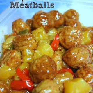 Crockpot Hawaiian Meatballs.