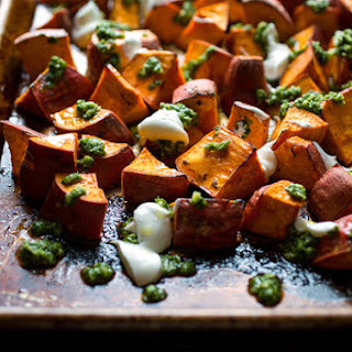 Sweet Potatoes With Yogurt and Cilantro-Chile Sauce