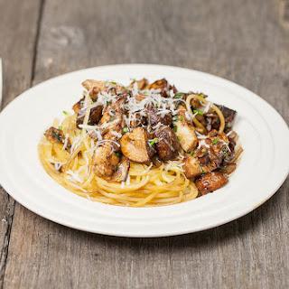 Balsamic Chestnut Mushroom Spaghetti