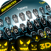 Animated Halloween Theme&Emoji Keyboard