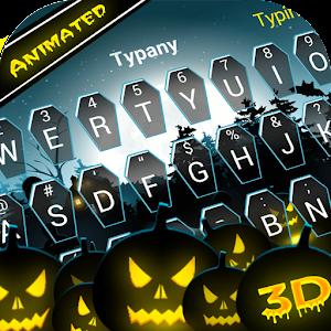 Animated Halloween Theme&Emoji Keyboard