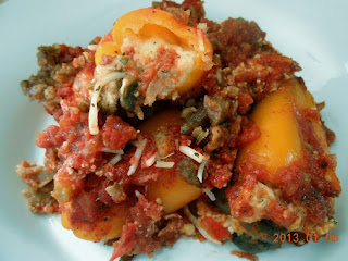 Cheese Stuffed Sweet Peppers With Sauce Recipe