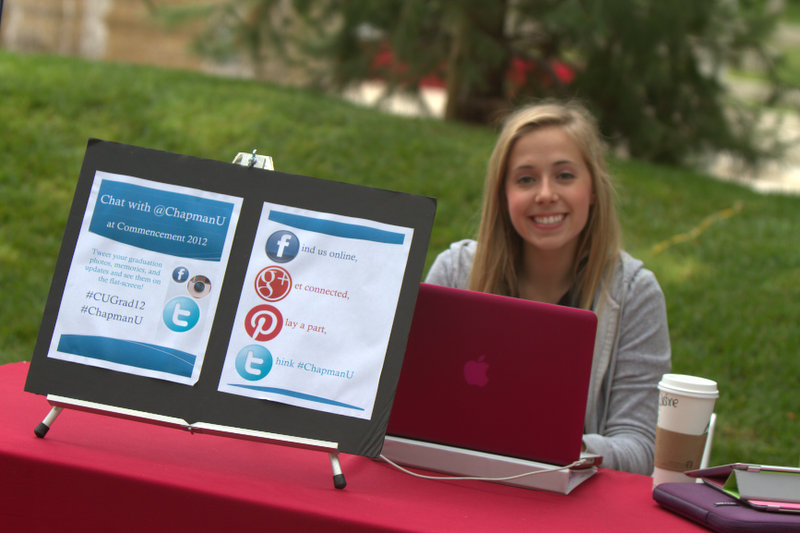 Photo: Social Media Booth at Commencement!