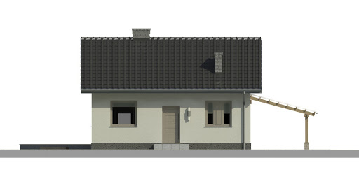 Dom przy Topolowej 2 - Elewacja przednia