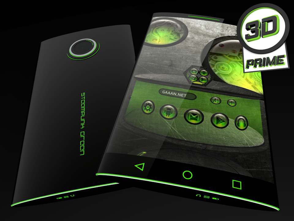 Steampunk Green theme for Next Launcher (Prime)- screenshot