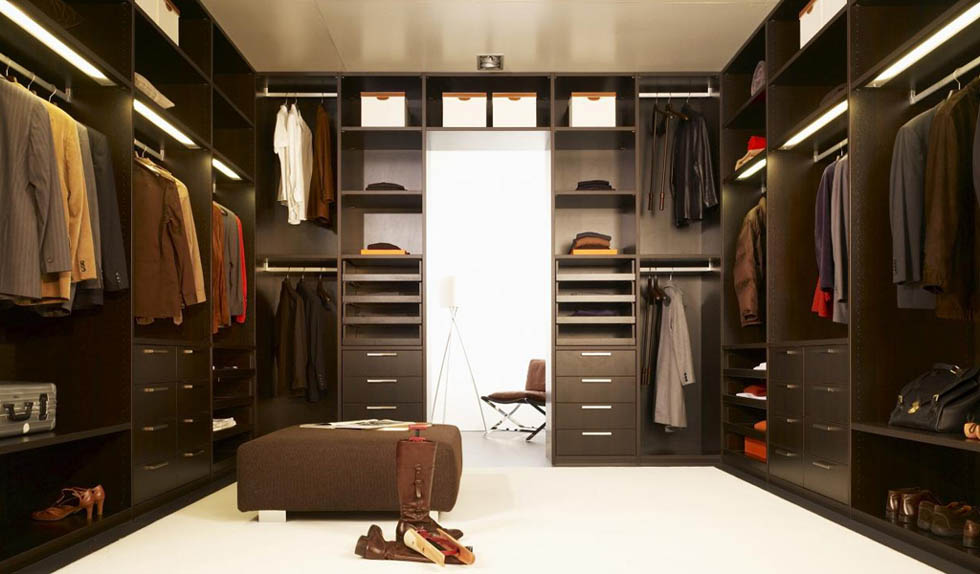 Thiết kế phòng thay đồ sang trọng cho nam giới