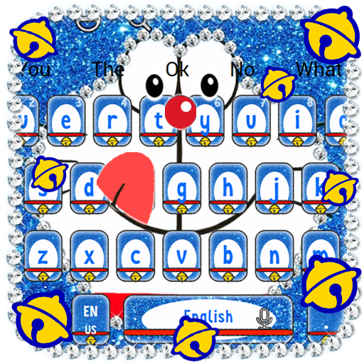 Kawaii Blue Cat Diamond Keyboard Aplikasi Di Google Play
