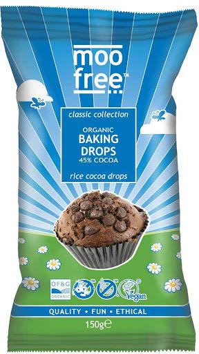 Bakchoklad, chokladdrops - Moo Free - mjölkfri choklad