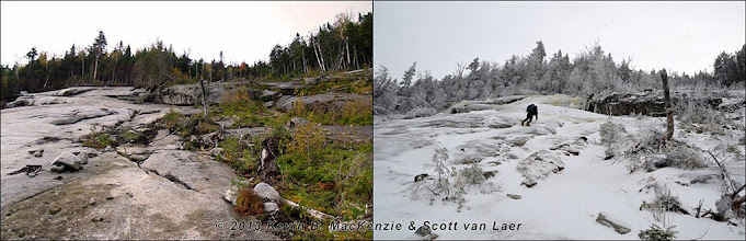 Photo: Seasonal comparison at the top of the 2011 enlargement.