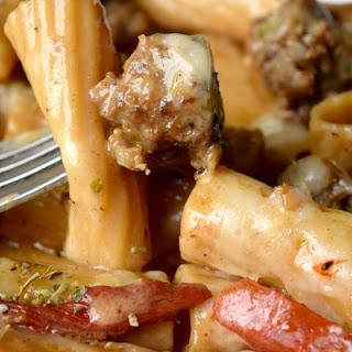 Rigatoni & Italian Sausage Skillet Meal.