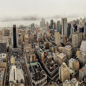 New York in a panorama by AsDigiClicks Photography - City,  Street & Park  Skylines ( city view, new york, usa, empire state, panorama )