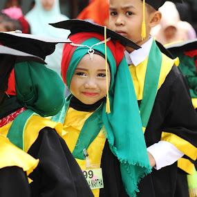 smile by Khairi Went - Babies & Children Child Portraits ( child, school, graduate, children, happiness, kids, smile, graduation,  )