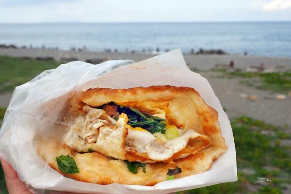黃記蔥油餅|超級好吃的台東蔥油餅NO1,台東必吃,濱海公園旁!