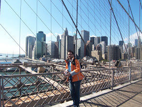 Photo: 1st day in NY - on Brooklyn Bridge