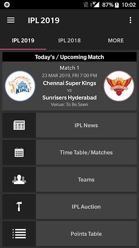 IPL 2019 News Time Table 3.10 screenshots 2