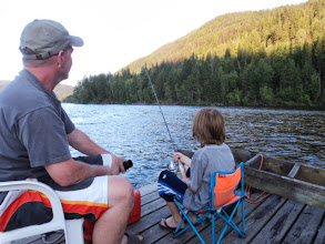 Photo: About the only time Brendan sat still the whole weekend... when a fishing rod was in his hands.