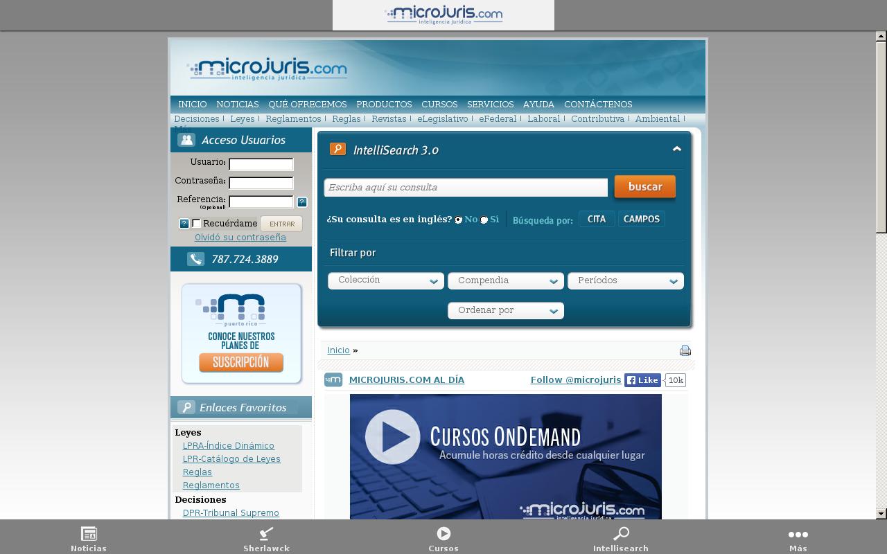 Microjuris.com- screenshot