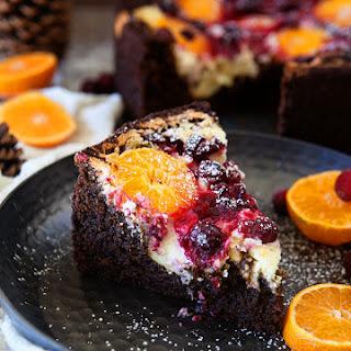 Cranberry Orange Spice Cake with Citrus Cream Cheese.