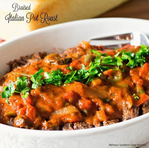 """Braised Italian Pot Roast """"This tender Braised Italian Pot Roast is packed..."""
