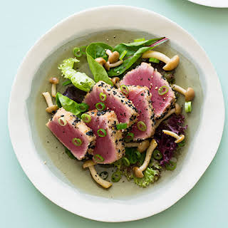 Black Sesame & Almond Crusted Ahi Tuna.