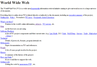 Photo: The first World Wide Web page (November 3, 1992)