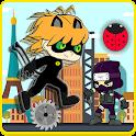 Black Cat Ninja VS Chinobi icon