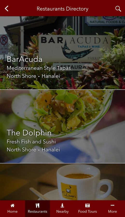 Tasting Kauai Restaurant Guide- screenshot