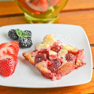 Strawberry Cream Cheese Cobbler.
