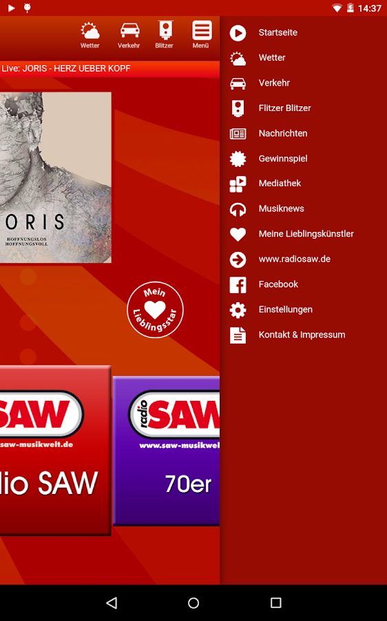 radio SAW 4.0- screenshot