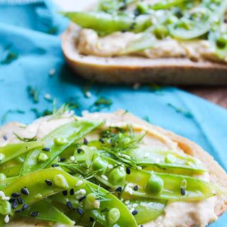 Lemony Snap Pea & Hummus Crostini