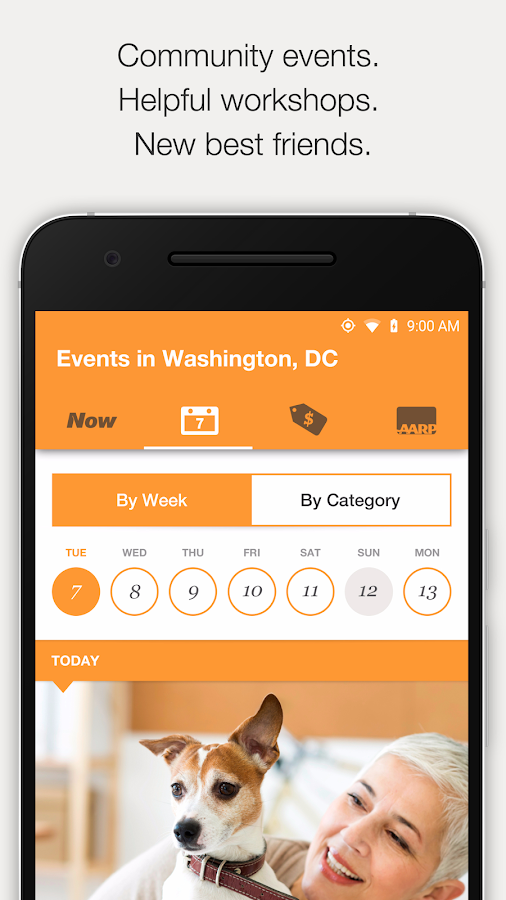AARP Now App: News, Events & Membership Benefits se skermkiekie