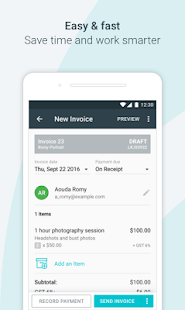 Invoice By Wave Apps On Google Play - Waveapps invoice