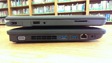 Photo: There is a significant difference in the thickness of the x131e versus the 11e.