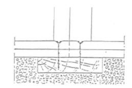 Figure 6.135-1 Liaison avec un plancher massif existant