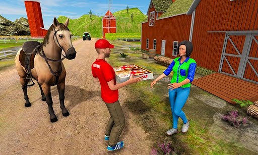 Mounted Horse Riding Pizza Guy: Food Delivery Game android2mod screenshots 2