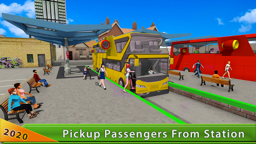 Flying Bus Driving simulator 2019: Free Bus Games 2.6 screenshots hack proof 2