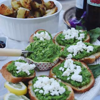 Green Pea Crostini.