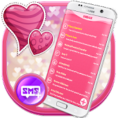 Pink Love SMS Heart
