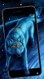 Blue Wolf Live Wallpaper - náhled