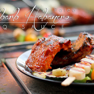 Paleo BBQ Sauce, Rhubarb Habanero