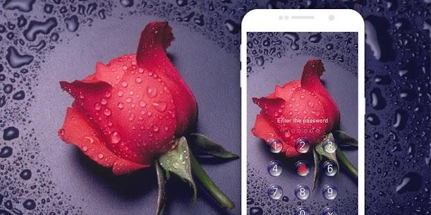 AppLock Theme Rain Rose - náhled