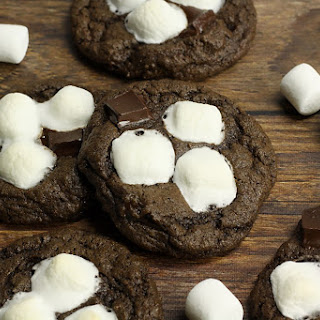 Dark Chocolate Hot Cocoa Cookies.