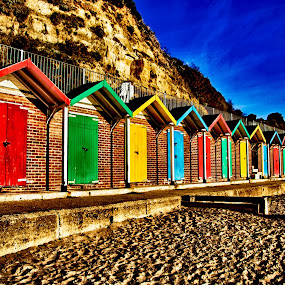 Swanage Beach Huts by Matt Lampey - Buildings & Architecture Other Exteriors