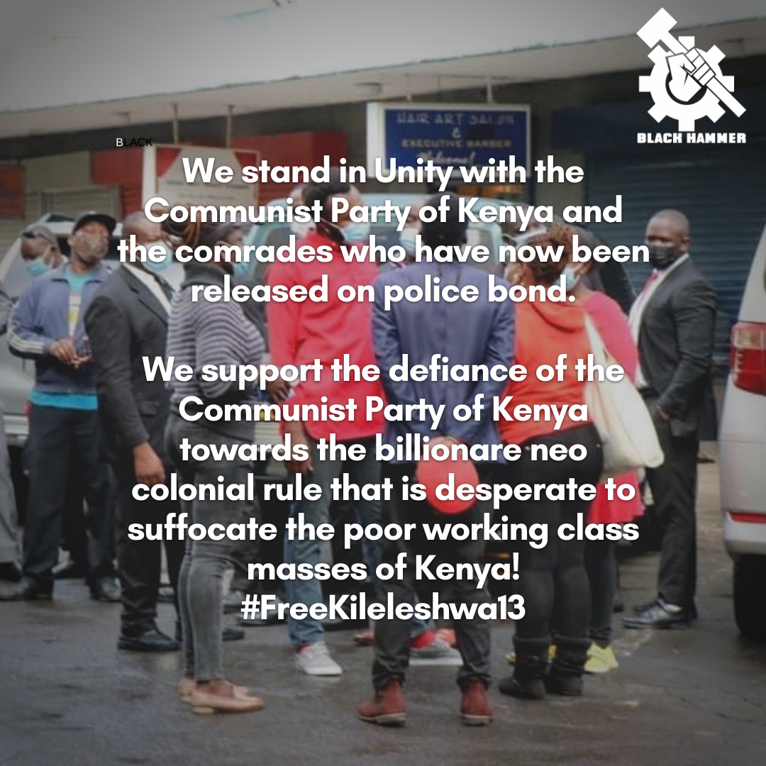 Message to our comrade in Kenya