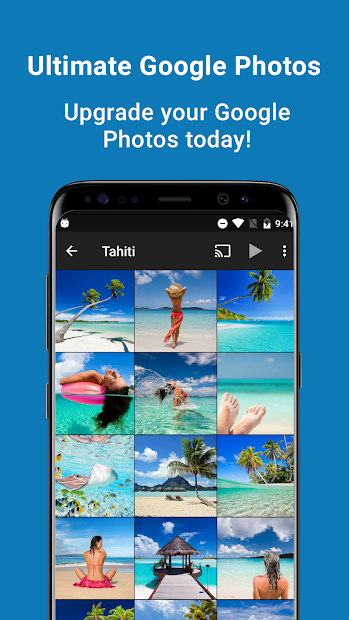 pFolio - Google Photos Gallery and Uploader Android App Screenshot