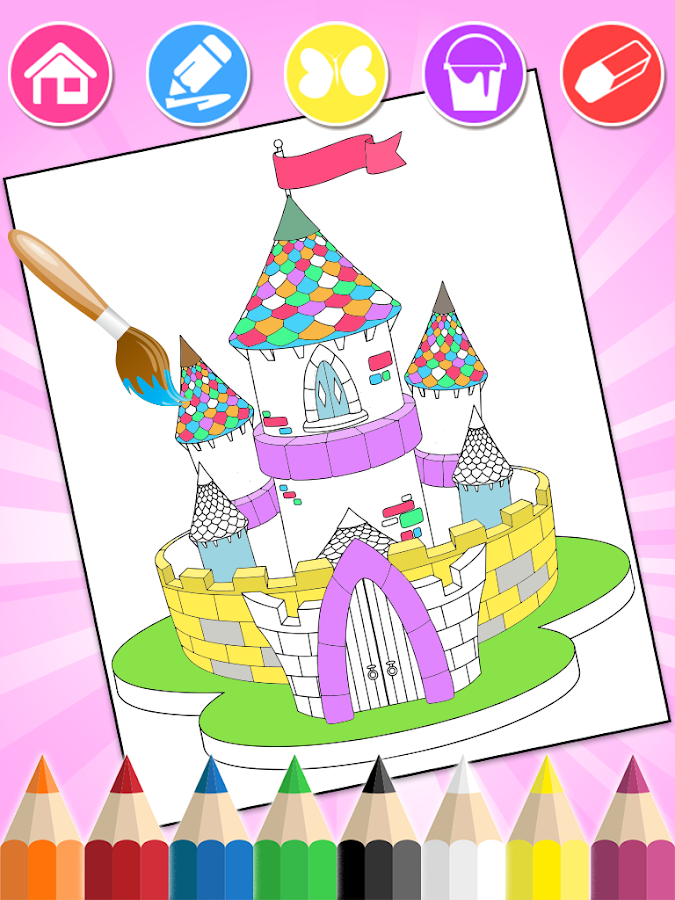 Princess Coloring Book- screenshot