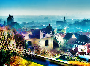 Photo: Hazy winter morning light over Prague - February 2008