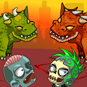 Dragons versus zombies survive and kill them all icon